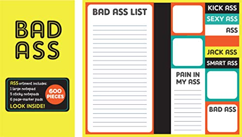 Book of Sticky Notes: Notepad Collection - Bad Ass