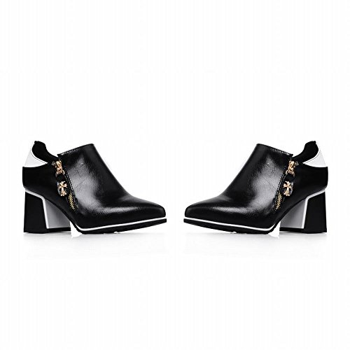 Women's Shoes Ankle Heel Boots Western Zippers Mid White Carol Fashion Swdq5xZZ