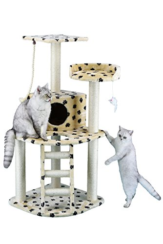(Go Pet Club Cat Tree Condo House Furniture, 48-Inch, Paw Print)