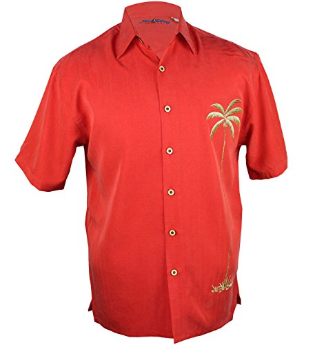 Maui Clothing Company Men's Palm tree embroidered aloha shirt L - The Of Wailea Shops