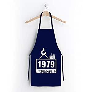 Manu Fact ured 1979divertido Delantal–de gran calidad con estampado Art & Fun–La Idea De Regalo perfecto