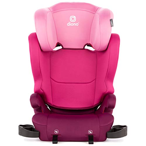 Diono Cambria 2 High-Back Children's Booster Seat – 6 Position Head-Support, 40-120 Pounds, Pink