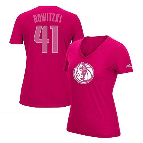 - adidas Dirk Nowitzki Dallas Mavericks Ultimate Tee 2.0 Jersey Pink T-Shirt Women