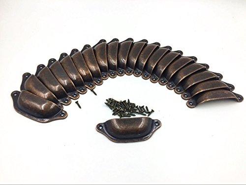 Vintage Decorative Door Drawer Pull Handle Semicircle Knob Pack of 20 (Big, Copper)