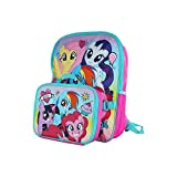 16' Kids' My Little Pony Blue Pink Unicorn Backpack with Removable Lunch Bag