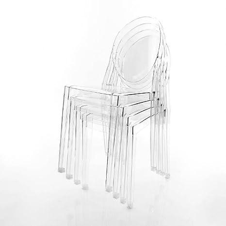 Kartell Victoria Ghost - Kit di 4 sedie, Trasparente ...