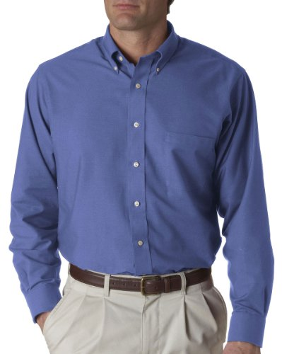 Van Heusen Long Sleeve Oxford, English Blue, XX-Large