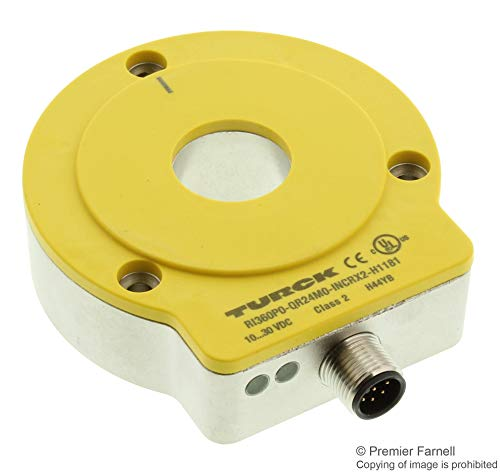 RI360P0-QR24M0-INCRX2-H1181 - Incremental Rotary Encoder, Contactless, 1024 Pulses, Hollow Shaft, 10 to 30 Vdc (RI360P0-QR24M0-INCRX2-H1181)