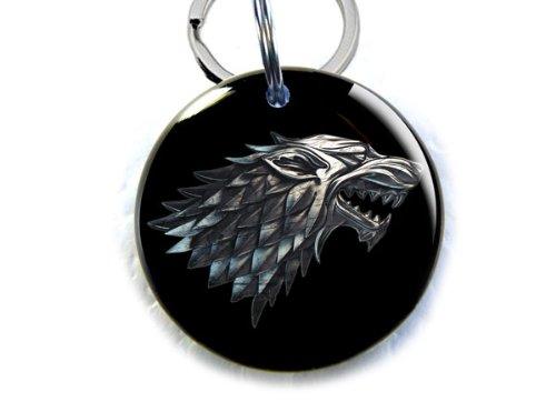 ID4Pet Game of Thrones Stark Direwolf Pet id tags