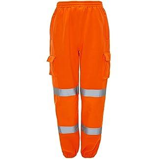 Shelikes Mens Hi Vis Viz 2 Tone JOGGING BOTTOMS Combat Trousers Workwear JOGGERS