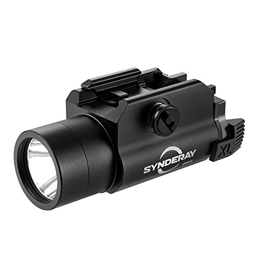 SyndeRay G09A Cree LED Tactical Weapon Light,Compact Pistol Flashlight with Picatinny Rail Mount fits Beretta PX4 M9A1 Glock 17 18C 19 23 25 SR9 XD Taurus 24/7 SIG P250 S&W SW99 Light Gun Attachment