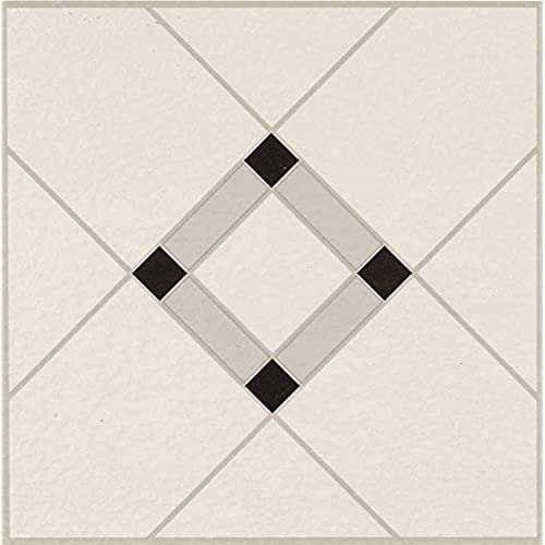 Armstrong World Industries 25280 Lattice Lane Units Residential No Wax Self Stick Vinyl Floor Tile Black White