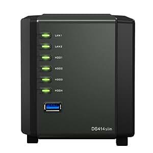 Synology DS411 slim - Servidor NAS (Serial ATA, 100-230 V, 50/60 Hz), negro