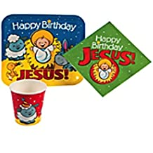 Happy Birthday Jesus Nativity Paper Tableware Set