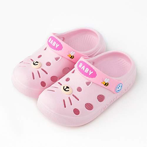 (Sherostore ♡ Toddler Little Kids Clogs Slippers Sandals Non-Slip Slide Lightweight Garden Shoes Beach Pool Shower Slippers Pink)