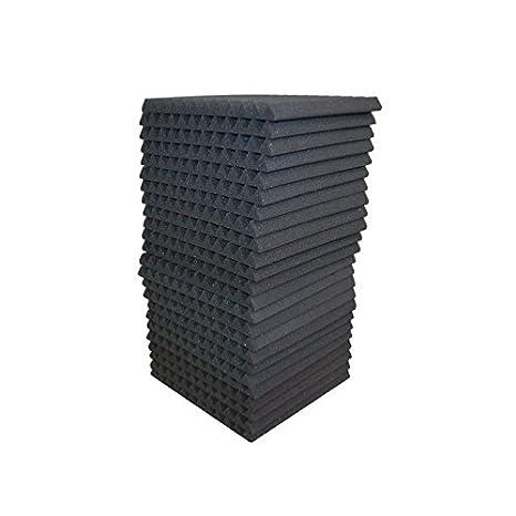 24 Pack - gris paneles acústica Studio espuma cuñas 1