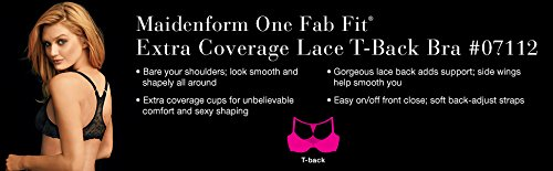 2430b23593 Maidenform Women s One Fab Fit Extra Coverage Lace T-Back at Amazon Women s  Clothing store