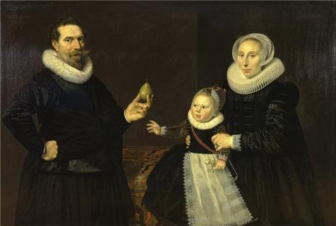 Oil Painting 'Cornelis Van Der Voort - Family Portrait', 20 x 30 inch / 51 x 76 cm , on High Definition HD canvas prints is for Gifts And Basement, Home Office And Kitchen Decoration, own