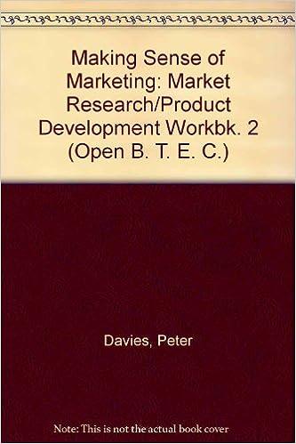 Libros Para Descargar Making Sense Of Marketing: Market Research/product Development Workbk. 2 Formato Kindle Epub