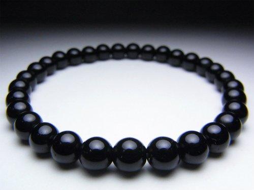 チベット産モリオン(黒水晶)ブレスレット《AAAランク6mm》 (内径15cm) 【ブレスレットAMERI】 B0093X1QCQ