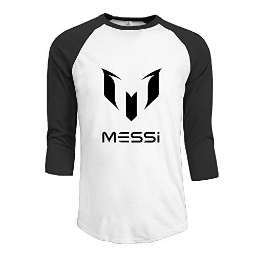 Leo Messi Football Player Men's Classic 3/4 Sleeve Baseball T (Caralina Panthers)