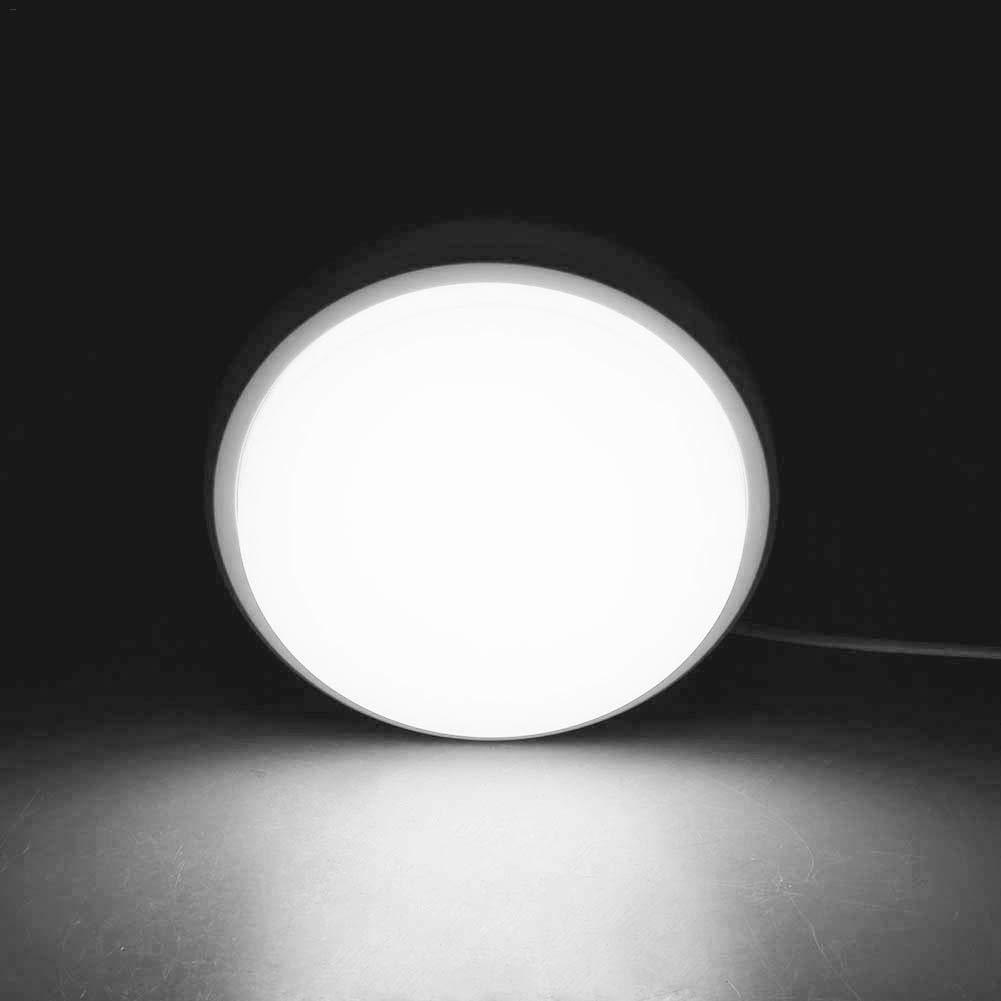 Rotondo impermeabile e a prova di umidità bagno lampada LED bagno lampada per soggiorno cucina camera da letto sala da pranzo White Light Rlorie-123