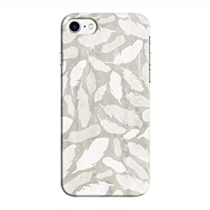 Cover It Up - Feather Grey Print iPhone 8 Hard Case