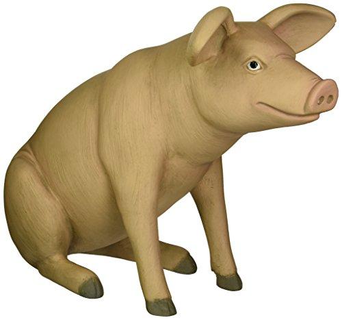 Design Toscano Sitting In Hog Heaven: Large Pig Statue