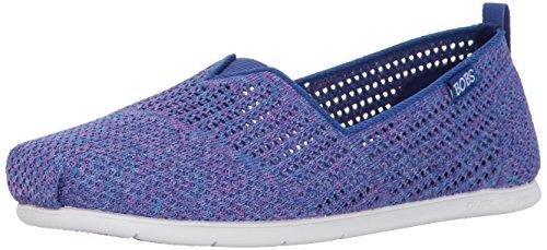 Skechers Femmes Peluche Lite-be Cool Plat Bleu / Multi