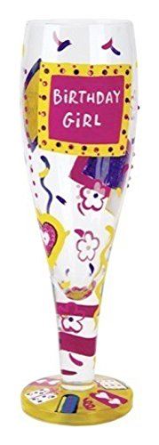 Lolita Glassware Birthday Girl Pilsner (PIL2-5534B), Multicolor (Birthday Pilsner Girl)