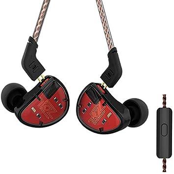 KZ AS10 HiFi Estéreo 5 Balanced Driver Driver Monitor Auriculares En Auriculares Auriculares de Oído Auriculares (con Mic, Negro): Amazon.es: Electrónica