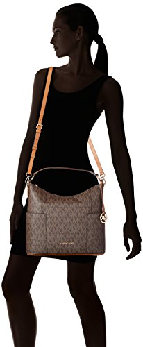 fa84eaa2de60 Amazon.com  Michael Kors Anita Signature Large Convertible Women s Handbag  in Brown Acorn  Shoes