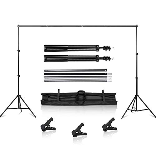 SH Background Stand, 6.5 x 10FT Heavy Duty Background Stand, 2x3M Backdrop Support System Kit with Carry Bag for Photography Photo Video Studio,Photography Studio