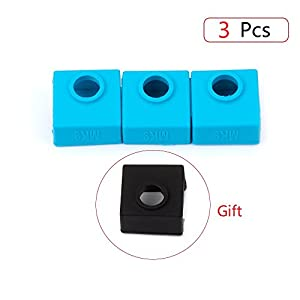 3D Printer Silicone Sock, FYSETC Heater Block Silicone Cover MK7 MK8 MK9 Hotend Heater Protect for Wanhao i3 Creality CR-10 Mini S4,S5 ANET A8 and More by Fuyuansheng