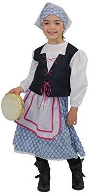 Disfrazzes Disfraz para Niñas de Pastora Azul Moderna Deluxe ...