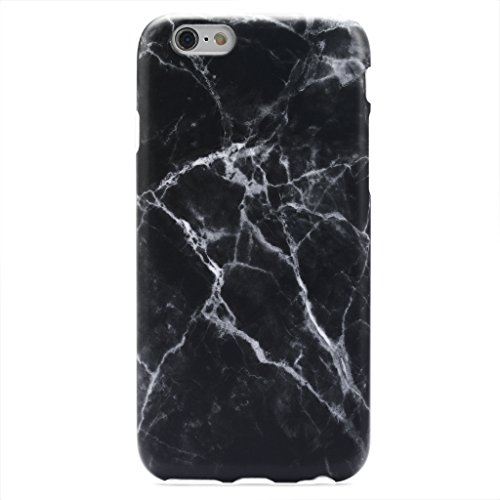 GOLINK iPhone 6/6s Case IMD Printing Slim-Fit Ultra-Thin Anti-Scratch Shock Proof Dust Proof Anti-Finger Print TPU Case for iPhone 6/iPhone 6S(4.7 inch Display) - Black Marble III (Black Marble)