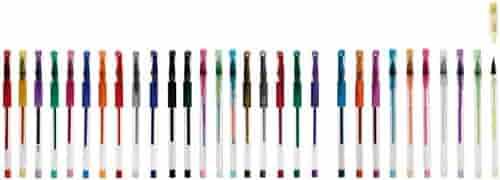 Idena 512269 - Pack de bolígrafos de gel de 5 tipos diferentes (30 unidades): Amazon.es: Oficina y papelería