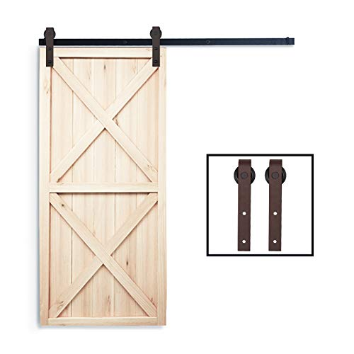 PENSON & CO. SDH-A023-BR Sliding Barn Door Hardware Set 6.6 FT-Antique Bronze Style), Brown
