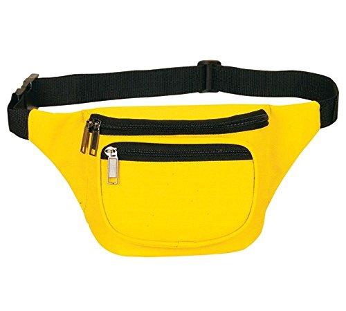 Yens FN-03 Fantasybag 3-Zipper Fanny Pack, (Neon Yellow)