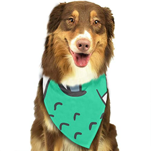 Sourde Customized Cartoon Croco Classic Pet Dog Scarf Washable Adjustable Triangle Pet Scarf Bow, Suitable For Small And Medium Pets