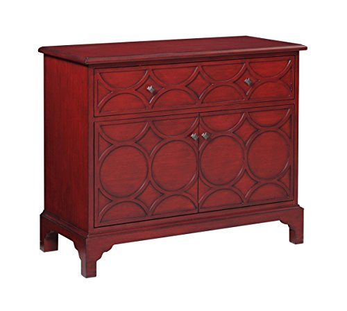Bassett Mirror Company In-Town Quinn Hospitality Cabinet in Red by Bassett Mirror Company