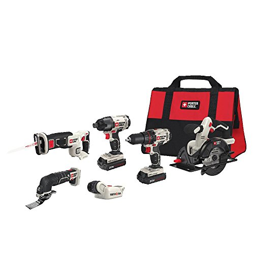 PORTER-CABLE PCCK6116 20V MAX Lithium Ion 6-Tool Combo Kit by PORTER-CABLE
