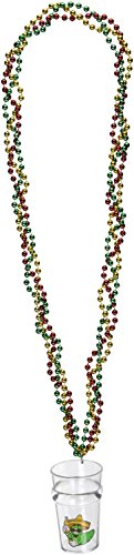 Braided Beads w/Fiesta Glass Party Accessory (1 count) (Cinco De Mayo Beads)