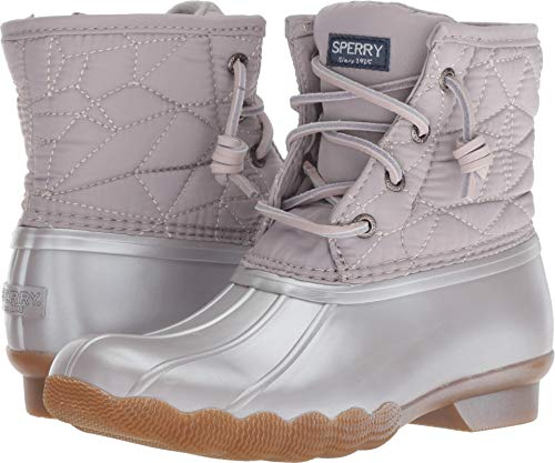 Sperry Girls' Saltwater Boot Sneaker, Gull Grey, 5 Medium US Big Kid