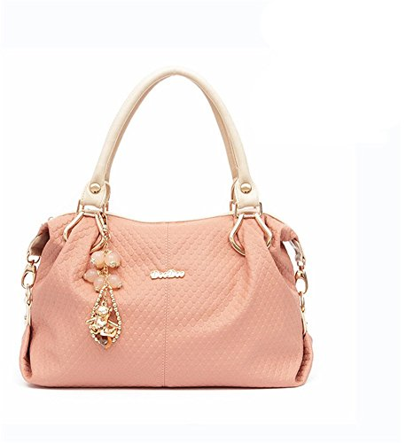 New Winter QCKJ-Lorenz-Borsa a tracolla da donna in ecopelle, colore: rosa