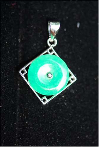 Green Jade Disc Pendant