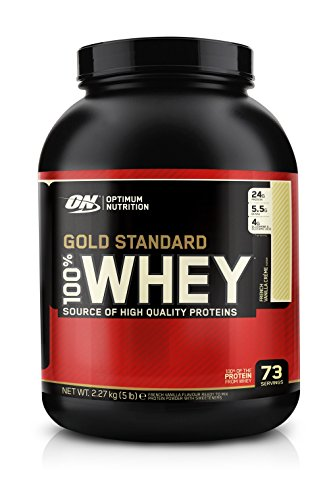 (OPTIMUM NUTRITION GOLD STANDARD 100% Whey Protein Powder, French Vanilla Creme, 5 Pound)
