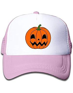 Pumpkin Halloween1 On Kids Trucker Hat, Youth Toddler Mesh Hats Baseball Cap