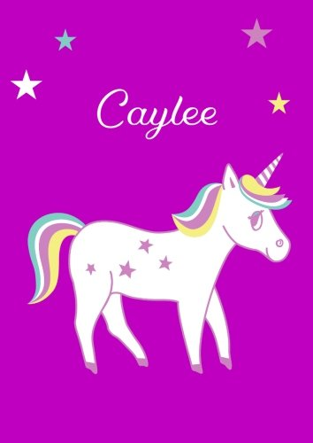 Caylee: Unicorn Notebook / Coloring Book / Diary - DIN A4 - blank