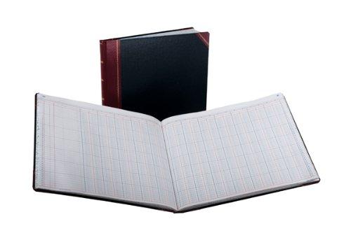 Boorum & Pease 25 Series Columnar Book, 24 Column, 150 Page, Black/Red (25-150-24)